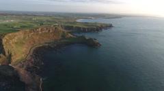 Flying High Along Epic Ireland Coast at Sunrise  Stock Footage