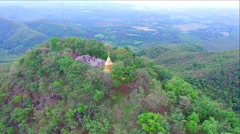 Aerial view of Doi Kamo mountain in Lamphun province,Thailand. Stock Footage