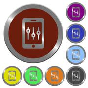 Color smartphone tweaking buttons Stock Illustration