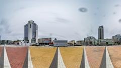 "Nsk ""olympic"". Trinity Square in Kiev. Stock Footage"