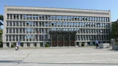 The parliament palace il Ljubljana Stock Footage
