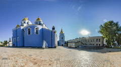 St. Michael's Monastery. Bell Tower. Kiev. Stock Footage