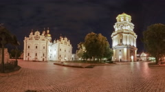 Night in the Kyiv-Pechersk Lavra Stock Footage