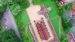 Aerial view of Wat Ton Khen, Chiang Mai, Thailand Stock Footage