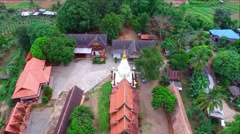 Aerial view Wat Buddha-En,mae jam,chiangmai,thailand. Stock Footage