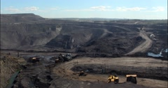 Coal mine works/time lapse Stock Footage