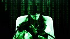 Virtual matrix girl chroma movie enjoy Stock Footage