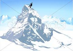 Berge Matterhorn klettern Stock Photos
