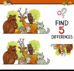 Differences game for children Stock Illustration