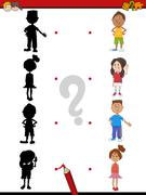 Shadow activity with children Stock Illustration