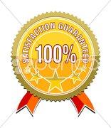 Satisfaction guaranteed Stock Photos