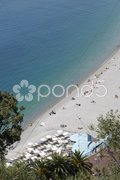 Beach at Nice. Cote d'Azur. France Stock Photos