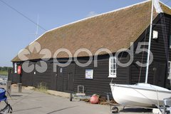 Building on quayside at Bosham. Sussex. England Stock Photos