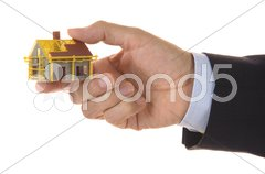 Haus in Hand Stock Photos