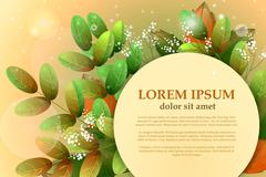 Autumn leaves of acacia with space for your advertising. Vector Stock Illustration