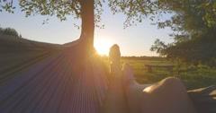 Hammock Sunset Canon 1DC Stock Footage