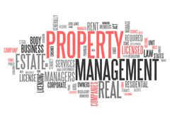 Word Cloud Property Management Stock Illustration