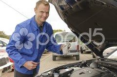 Autowerkstatt Stock Photos