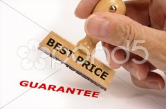 Best price guarantee Stock Photos