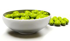 3d Olive on a white background Stock Illustration