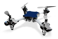 3d quadro helicopter on a white background Stock Illustration