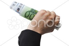 Banknotes in the hand Stock Photos