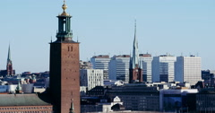 Stockholm city hall in winter Stock Footage