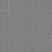 Abstract lines seamless pattern. Optic illusion Stock Illustration