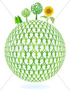 Grüner Umweltschutz Stock Photos