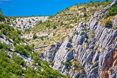 Cikola river canyon and Kljucica fortress ruins Stock Photos
