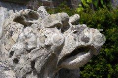 Griffin sculpture in English garden Stock Photos