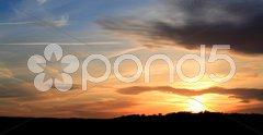 Sunset over Leeds Stock Photos