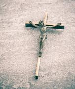 Crucifix, jesus christ on the cross Stock Photos