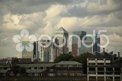 View of London's Canary Wharf Stock Photos