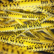 Crime scene yellow caution  tape background. Security concept. Stock Illustration