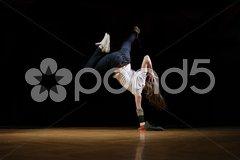 Hip hop girl in dance Stock Photos