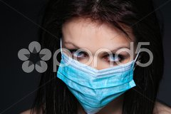 Young nurse in mask Stock Photos