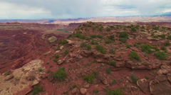 Pull Away From Epic Canyon Vista Stock Footage
