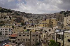 Amman, Jordan -May 28, 2016:  Cityscape of Amman downtown, Jordan Stock Photos