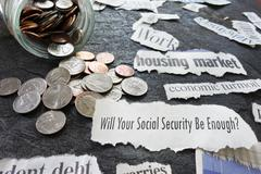 Social Security newspaper headlines Kuvituskuvat