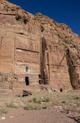 Silk tomb - one of Royal tombs. Petra, Jordan. No people Stock Photos