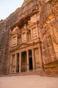 The treasury or Al-Khazneh, it is the most magnificant and famous facade in P Stock Photos