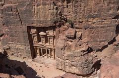 "Bird's-Eye View Al-Khazneh ""The Treasury"" in Petra, Jordan Stock Photos"