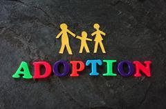 Family adoption concept Stock Photos
