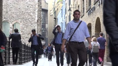 4K London Streets with People Tourists Visiting Famous Places in UK by Day Stock Footage