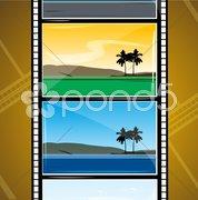 Movie reel Stock Illustration