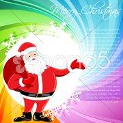 Multicolored christmas card Stock Illustration