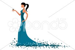 Glamorous lady Stock Illustration