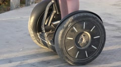 Wheels Of Personal Transportation Device Stock Footage