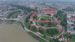 High Descent Over Krakow Stock Footage